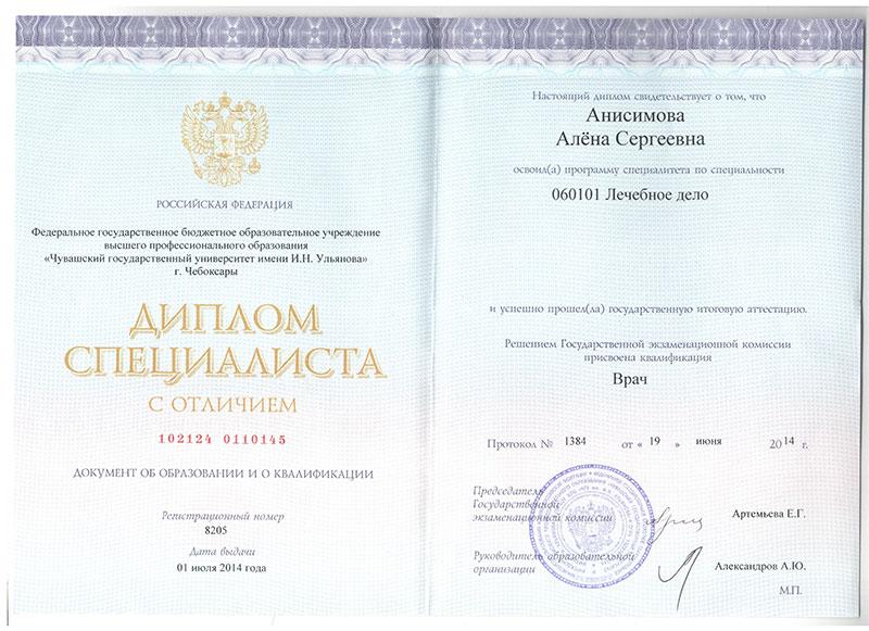 Анисимова Алена Сергеевна b098 b099 b100 b101 d006 d01